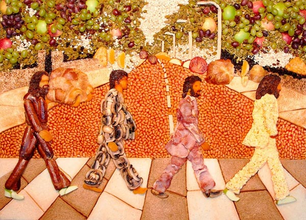 Beatles Abbey Road Recreated with Jelly Beans