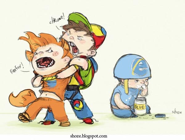 Browsers War Illustration