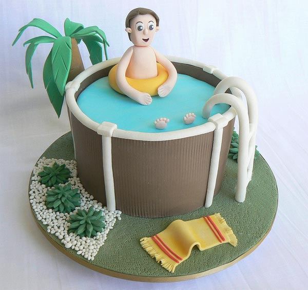 Father's Day Swimming Pool Cake