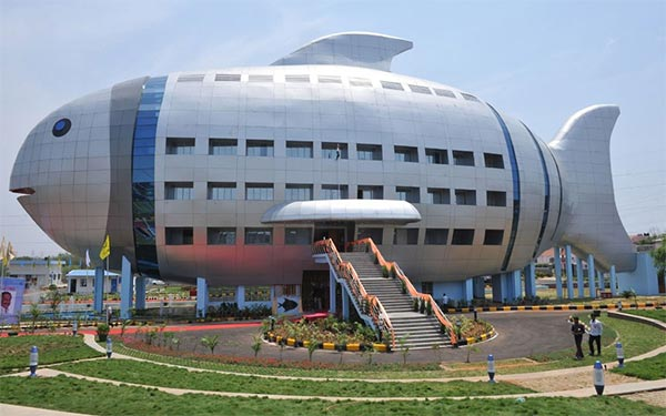 Fish-shaped Building