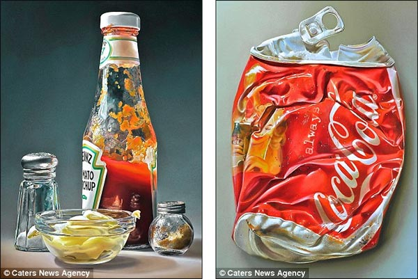 Realistic Oil Painting of Food
