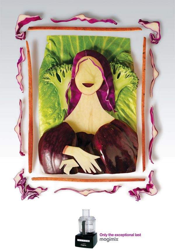 Mona Lisa Painting Recreated with Food