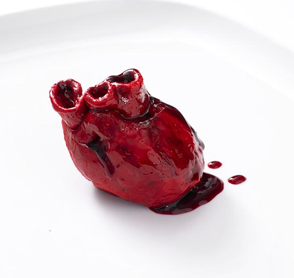 Human Heart Shape Cake