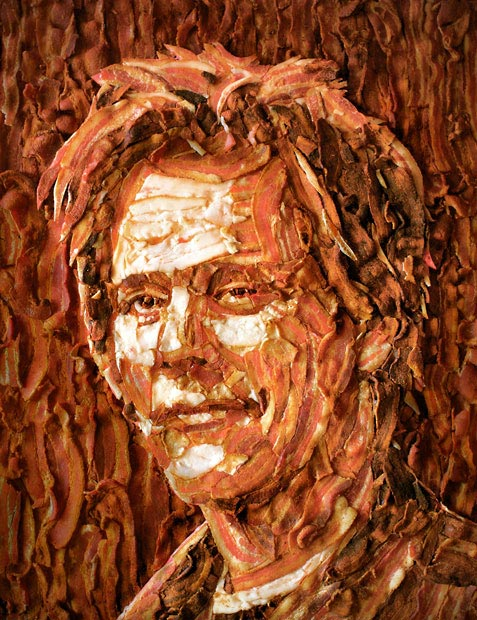 Artist Creates Kevin Bacon Out Of — Bacon!