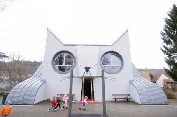 Kitty-shaped Kindergarten