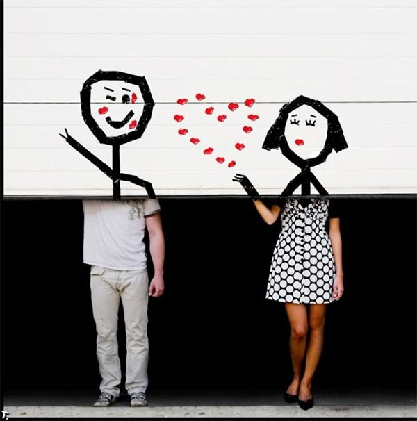 Cute Love Drawings On Garage Door