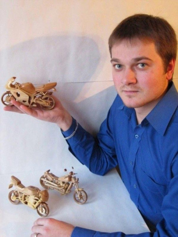 Miniature Wooden Bikes