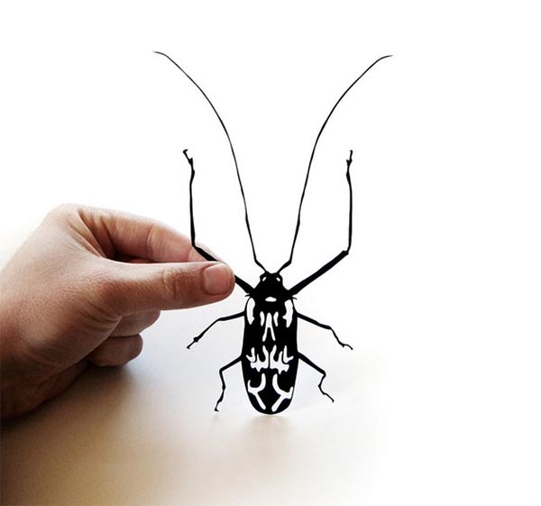 Paper-cut Giant Harlequin Beetle