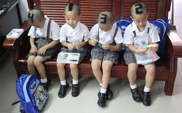 Quadruplets Marked with Numbers To Identify Easily