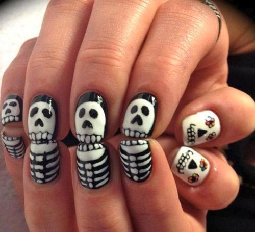 Skeleton Polish on Nails