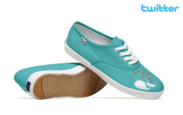 Twitter-Inspired Social Media Shoes