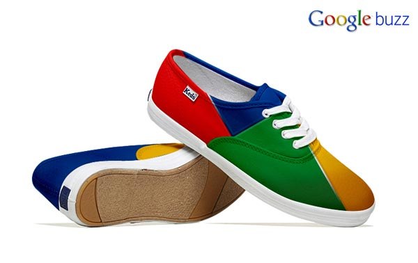 Google Buzz-Inspired Social Media Shoes