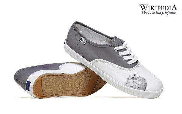 Wikipedia-Inspired Social Media Shoes