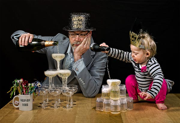 Funny Dad & Daughter Photo by Dave Engledow