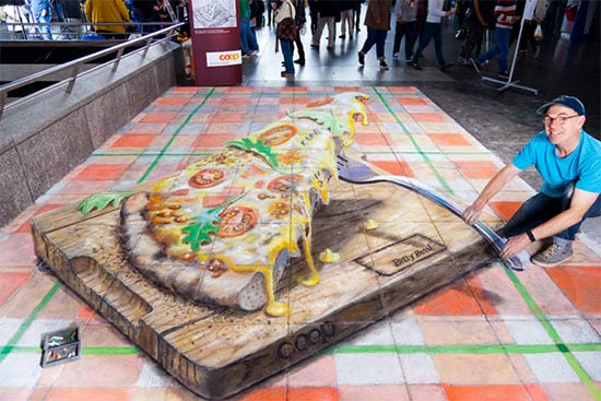 3D Illusion Drawing by Julian Beever