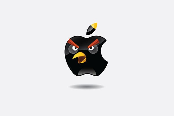 Angry Brands Apple Logo