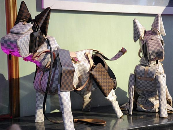 Animal Sculptures Created with Louis Vuitton bags