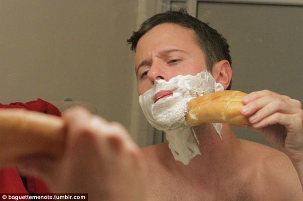 Shaving with Baguette