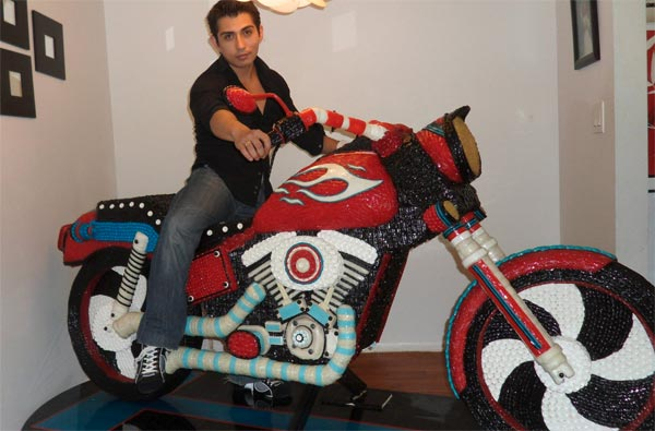 Life-size Candy Motorcycle