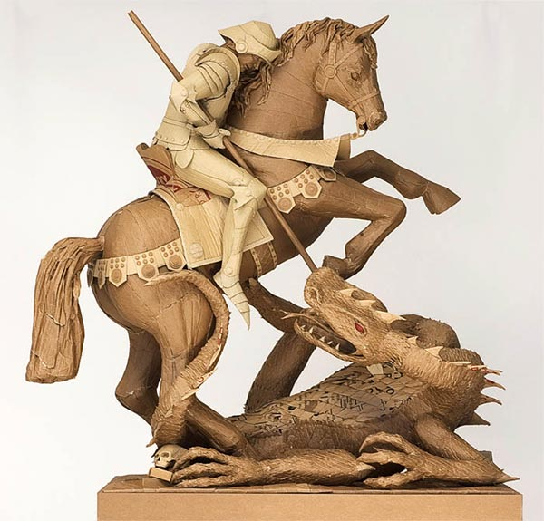 Cardboard Sculpture by Chris Gilmour