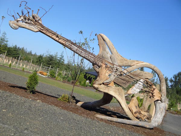 Giant Guitar Made Out of Driftwood