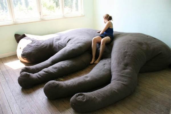 Giant Sleeping Cat Couch
