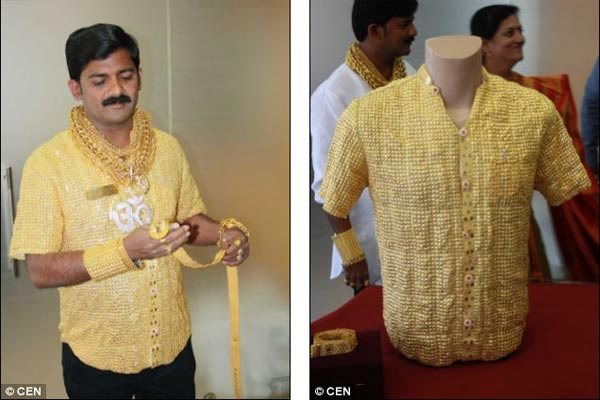 Indian Wealthy Man Spends £14,000 on Shirt Made of Pure Gold