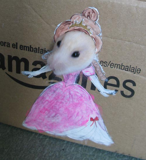 Adorable Hamster Dresses Up in Cardboard Cutouts