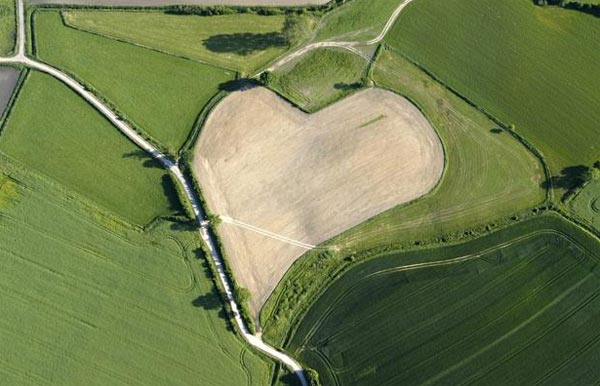Gigantic Hearts From Above