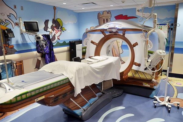 Pirate-Themed CAT Scan Machine