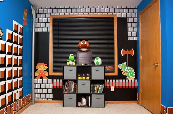 Super Mario Themed Bedroom