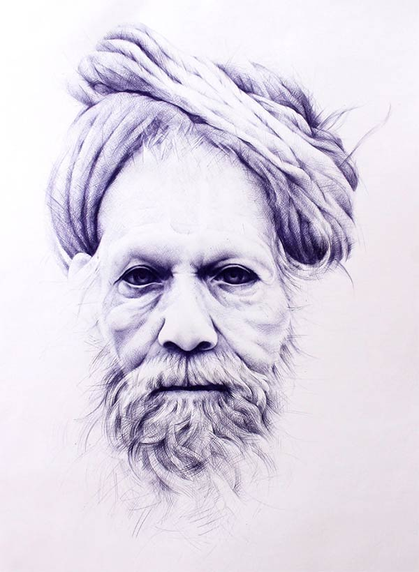 Ballpoint Pen Drawings by Toni Efer