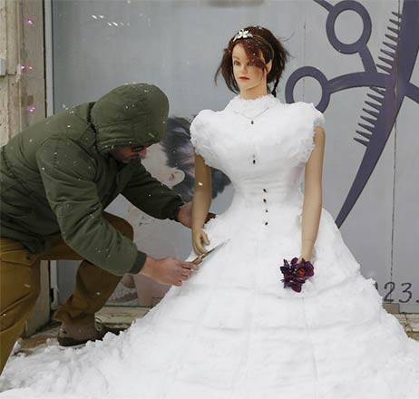 Bridal Dress Made of Snow