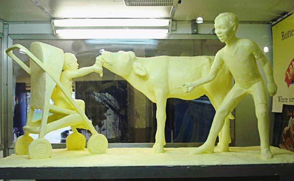 Butter Sculptures by Jim Victor