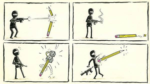 Cartoonists Pay Tribute to Charlie Hebdo Victims
