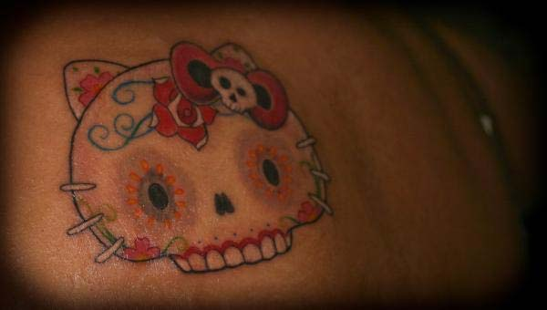 Crazy Hello Kitty Tattoo