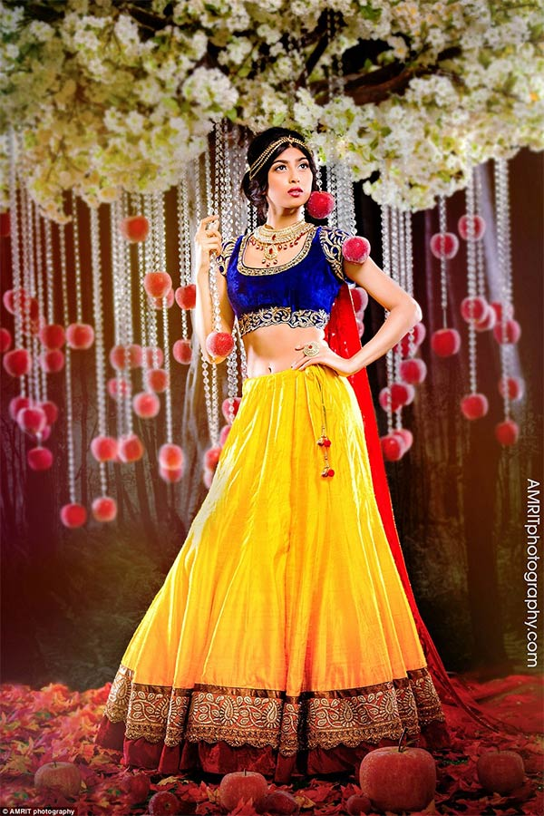 Disney Princesses Transformed Into Indian Brides