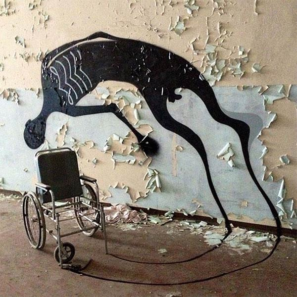 Ghostly Shadows Painted in Mental Hospital