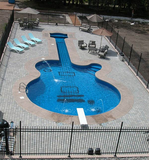 Guitar-Shaped Swimming Pool