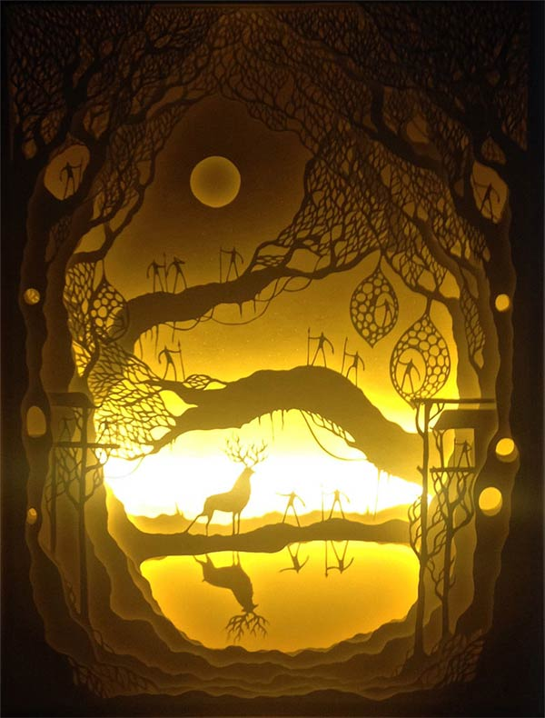 Paper Cut Shadow Boxes