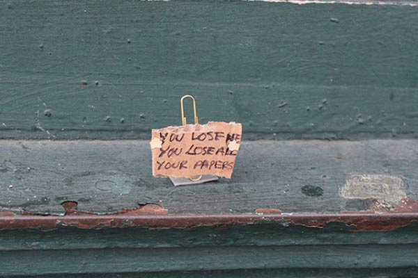 Funny Cardboard Signs Express the Thoughts of Lost Objects