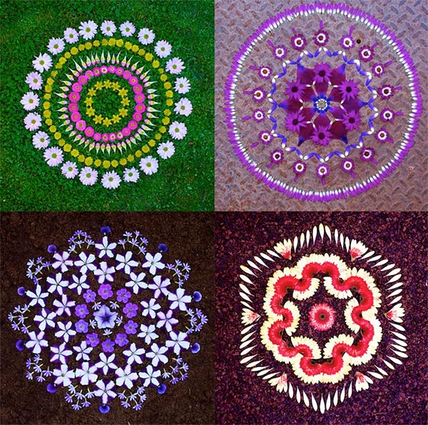 Beautiful Mandalas Made from Nature by Kathy Klein