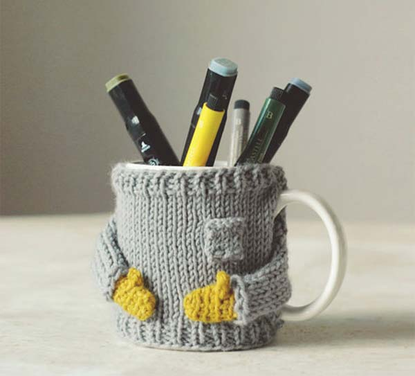 Adorable, Miniature Knit Sweaters For Keeping Your Coffee Mugs Warm