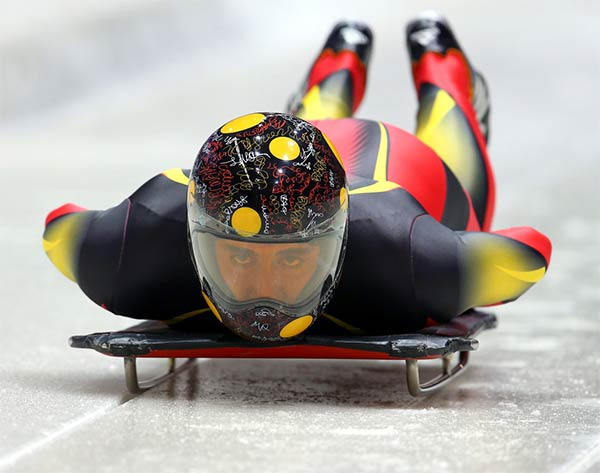 Sochi Olympic Skeleton Helmets