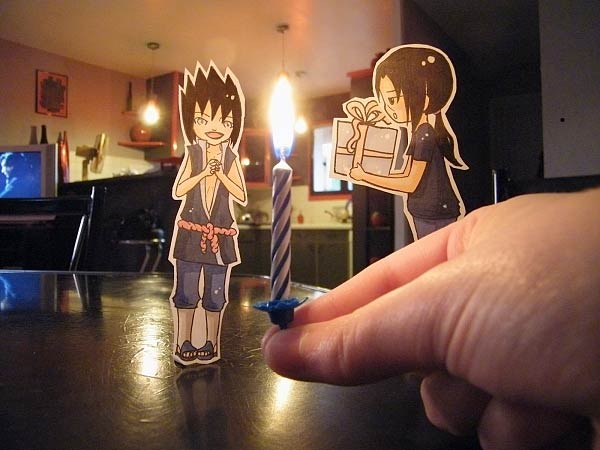 Paper Cut-Out Models of Anime Characters Known As Paper Child