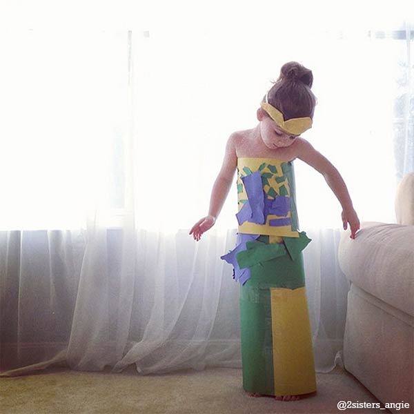 4-Year-Old Girl, Mayhem, Creates Fashionable Paper Dresses
