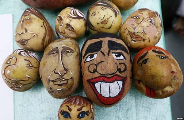 Barack Obama And Vladimir Putin Images on Potatoes