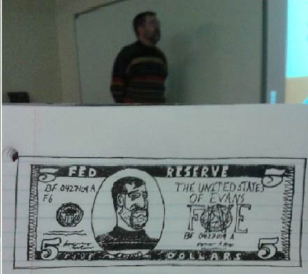 Silly Teacher Drawings by Bored Student