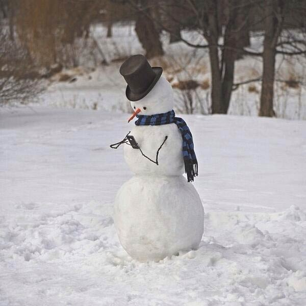 Snowman Caught Messaging To His Girlfriend using Phone