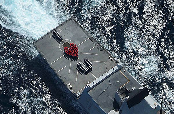 Valentine's Message From Sailors